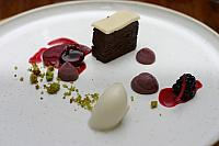 "10th December 2014 - ""Mulled Fruits, Cherry Mousse, Pistachio & Chocolate"""